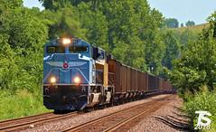 "UP 1982 ""MOPAC"" Leads WB Empty Coal Drag Kansas City, KS 7-15-18 (KansasScanner) Tags: bnsf up fxe mopac 1982 up1982 sd70mac kansascity kansas edwardsville bonnersprings loring train railroad railfanning railfan"