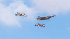 Heritage Flight 2018 (Tony Howsham) Tags: flight heritage p51 mustang spitfire f35a fairford raf airshow tattoo air international royal 100400mkii 80d eos canon