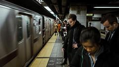 44 St (Alexander Rentsch) Tags: sonya7ii sonyfe28mmf2 usa newyork manhattan subway underground ubahnstation urban city retro vintage colors colours geometry depthoffield dof vscofilm