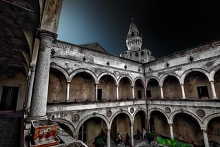 Rivalta castle - View of the courtyard