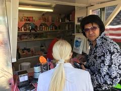 Elvis frequents the American Diner Elvisham 14Jul18