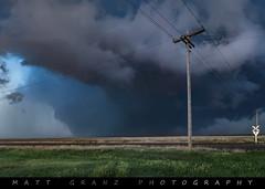 Chasing a Monster (Matt Granz Photography) Tags: kansas railroad crossing tornado wedge multivortex plains supercell clouds storm chasing chaser grass sky nikon nikond50 nikon2470mm mattgranz