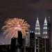 Fireworks over Kuala Lumpur