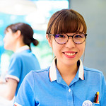 Smile Glasses Girl at Zoff Kohoku Tokyu Shop in Kohoku Newtown, Yokohama : 港北ニュータウン・Zoff 港北東急店にて thumbnail