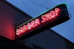 Lower Queen Anne Barber Shop (joseph a) Tags: sign neonsign lowerqueenanne uptown seattle washingtonstate washington