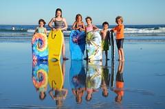 Cousins On The Beach (Joe Shlabotnik) Tags: gabriella carolina higginsbeach maine ocean beach dylans reflection boogieboard helent everett july2018 2018 violet afsdxvrzoomnikkor18105mmf3556ged myfave heylookatthis faved 500px