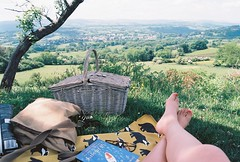 My happy place. (ninakgriffin) Tags: view placetoread bookworm book books read outdoors explore wander countryside england dartmoor devon fujicolorsuperia200 nikonf100 keepfilmalive filmisnotdead film 35mm relax happiness peace calm timeout picnic