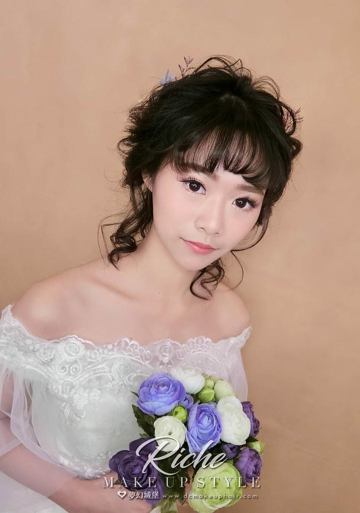 【新秘RICHE】新娘造型創作 / 日系抽絲造型