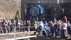 52 8154 fährt auf die Drehscheibe (Thomas230660) Tags: dresden eisenbahn dampf dampflok steam steamtrain sony