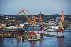 Lindholmen (Rudi Pauwels) Tags: sverige sweden schweden goteborg gothenburg hisingen lindholmen cranes reflections 2018 tele zoom tamron 18270mm tamron18270mm nikon d7100 nikond7100