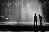 io mi tuffo (pamo67) Tags: pamo67 idive fontana fountain zampilli jets acqua water controluce backlights bambini children gioco game silhouette bn bianconero bw blackwhite 2 two pasqualemozzillo