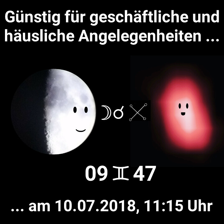 Mond Konjunktion Aldebaran