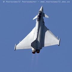 0081 Typhoon (photozone72) Tags: aviation airshows aircraft airshow yeovilton yeoviltonairday jets canon canon7dmk2 canon100400f4556lii 7dmk2 raf typhoon raftyphoondisplay eurofighter