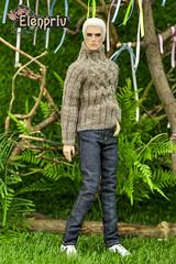 That look in his eyes! (elenpriv) Tags: fr homme 12inch fashion fashionroyalty integrity toys jason wu doll handmade clothes elenpriv elena peredreeva dollclothes handknitted sweater