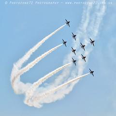0494 Lightning formation (photozone72) Tags: aviation airshows aircraft airshow yeovilton yeoviltonairday canon canon100400f4556lii canon7dmk2 7dmk2 raf rafat redarrows reds redwhiteblue smoke
