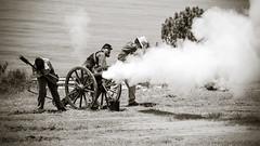 Union Canon Fire (Kevin MG) Tags: sanpedro fortmacarthur costume period civil war reinactment warreinactment gun canon battle union confederate rifle pistol