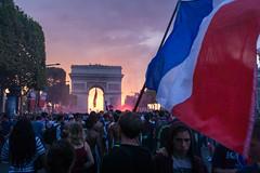 Stars in the eyes (benoitgx) Tags: coupe du monde paris champs élysées france flag arc de triomphe crowd football