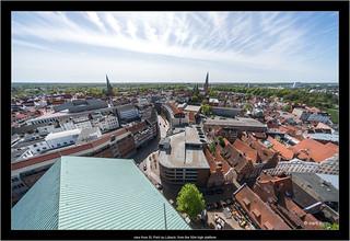 view from St. Petri zu Lübeck, from the 50m high platform