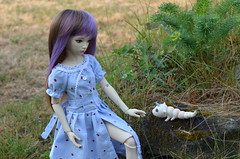 The beautiful girl without a name (JL_the_Lion) Tags: thebeautifulgirlwithoutaname bjd 14 msd doll jid iplehouse i normal skin outdoor absolem unicorn caterpillar miradolls fantasy outfit dreamdolldress etsy garden