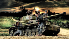 This Panzer Will See Us Through! (WesternOutlaw) Tags: toysoldiers kingcountry kingandcountry 130 130scale worldoftanks waffenss panzer panzeriv panzerivh