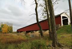 Long Red Bridge (JayLev) Tags: covered bridge indiana