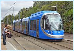 Blues at Priestfield (geoff7918) Tags: tram31 caf westmidlandsrailway priestfield