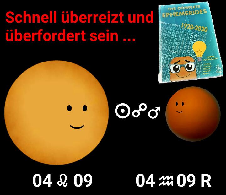 Sonne Opposition Mars