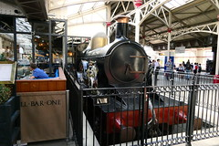 The Queen At Windsor & Eton Central Station (Ian R. Simpson) Tags: thequeen steam engine replica loco locomotive greatwesternrailway gwr 3031class windsoretoncentral windsoretoncentrailstation railwaystation concourse windsor berkshire england