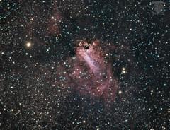 M17 - The Omega Nebula (Dark Arts Astrophotography) Tags: astrophotography astronomy space sky stars star science night nebula nature natur m17 messier 17 omega omeganebula astrometrydotnet:id=nova2650981 astrometrydotnet:status=solved