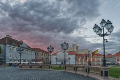 Union Square at Sunset (Hattifnattar) Tags: timisoara unionsquare sunset cityscape pentax da15mm limited clouds people streetlights