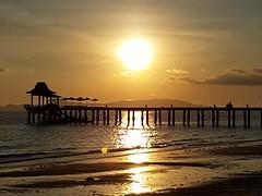 Golden (terri-t) Tags: phang nga bay nature golden landscape sea bridge pier sunset thailand kohyaoyai santhiya phuket beach