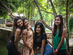 party girls (Anuradhagraphy) Tags: dance fun latin sunday music ballroom dancelovers photography anuradhagraphy blackwhite royal srilanka amithanuradha neon night girls women