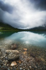 When Spray Lake Clouds Over (kpanderson878) Tags: canada alberta spray lake water boulder cloudy wilderness landscape serene rocky rockies