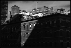 Shadow Play From The High Line (LilFr38) Tags: lilfr38 fujifilmxpro2 fujinonxf56mmf12rois fujifilm xpro2 newyork manhattan highline blackwhite noirblanc city shadow light building ombre lumière ville passiveaggressiveplacebo