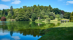 Stourhead (Geoff Fagan) Tags: stourhead bridge lake water trees reflection reflections rest grass bank clouds sony sonyalpha green walk ilce7rm2