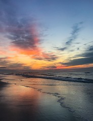 Sea Isle Sunrise (dweible1109) Tags: eastcoast atlanticocean magichour iphone waves water sand ocean jerseyshore sic nj seaislecity sunrise
