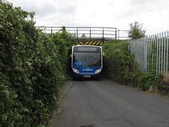 24149, Tan Lane Bridge, Exeter, 18/07/18 (aecregent) Tags: tanlanebridge exeter 180718 tanlane stagecoachsouthwest man 18240 enviro300 24149 wa59fxf pr greenpr