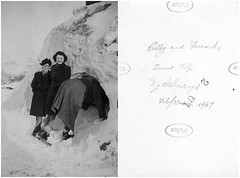 Betty and Friends (Living in Dorset) Tags: mytholmroyd westyorkshire england uk gb oldphoto scannedphoto betty scoutrock scouttop 1947