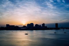 Sunrise over Norfolk VA (rickmcnelly) Tags: water x100f boat waterfront skyline norfolk sunrise