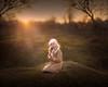 Sunset (olgafler) Tags: girl sunset ray whitedress