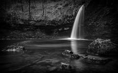 Sgwd Gwladys in mono (cliveg004) Tags: sgwdgwladys breconbeacons waterfall rocks wales waterfallcountry pontneddfechan ystradfellte bw mono monochrome bnw blackandwhite water river le longexposure nikon d5200