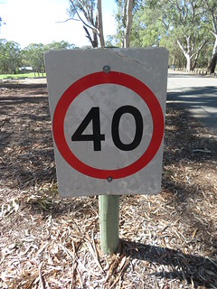 40km/h sign in Belair National Park