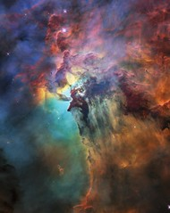 Hubble's 28th birthday picture: The Lagoon Nebula (europeanspaceagency) Tags: lagoonnebula esa europeanspaceagency space universe cosmos spacescience science spacetechnology tech technology hubble nebula hubblespacetelescope hst spacetelescope colourful stars hubble28 cc by 40 ccby40 creativecommons