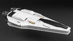 Vera Class Medical Shuttle (noblebun) Tags: lego spaceship spacecraft homeworld render