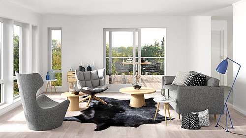 Scandinavian living room with terrace - Credit to https://www.lyncconf.com/