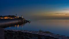 Blue hour - Port Vendres (jyleroy) Tags: canon eos700d languedocroussillon méditerranée portvendres pyrénéesorientales heurebleue mer poselongue rebel t5i bluehour nationalgeographicgroup ngc océan ciel