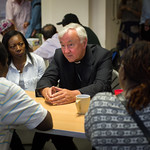Cardinal Nichols visits the Jesuit Refugee Service centre in East London to hear the stories of those seeking sanctuary in the UK thumbnail