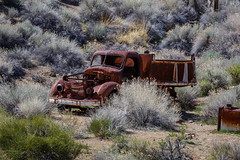 30s Dump Truck? (Jeffrey Sullivan) Tags: abandoned rusty dump truck death valley national park route landscape nature travel photography furnace creek california usa canon eos 6d photo copyright april 2018 jeff sullivan