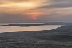 Opuk national reserve. Koyashskoye salt lake and The Black Sea. Crimea. (Khuroshvili Ilya) Tags: opuk evening sunset landscape crimea spring sea lake salt view beach mountain sun