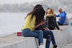 Chatting (Kotsikonas Elias) Tags: chatting chat people portrait relax relaxation sea girl girls greece